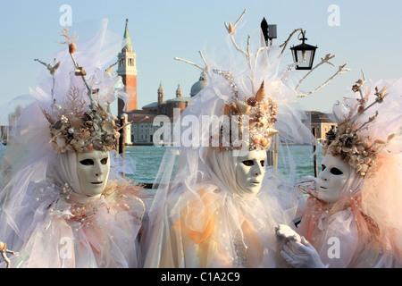 Carnival in Venice, Italy.   IT: Carnevale di Venezia, Italia.   DE: Karneval in Venedig, Italien.   FR: Carnaval - Stock Image