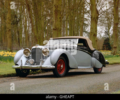 1939 Lagonda LG6 Rapide 2 door drophead coupe 4 5 litre straight 6 OHV engine Country of origin United Kingdom - Stock Image