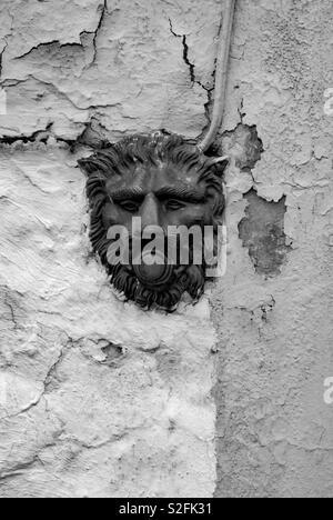 Door bell in the wall - Stock Image