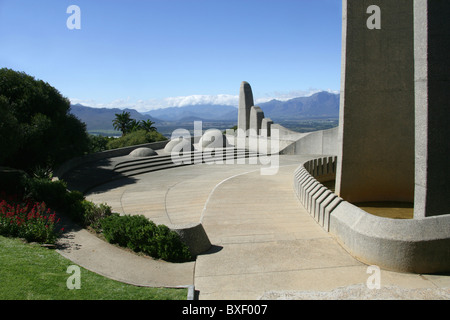 Taal Monument to the Afrikaans Language, Paarl, Cape Province, South Africa. - Stock Image