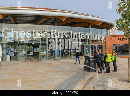 Chester Bus Interchange or Bus Station at Chester, the County town of Cheshire, England, UK - Stock Image