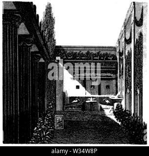Roman Garden, ,  (cultural history book, 1875) - Stock Image