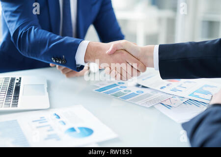 After signing contract - Stock Image