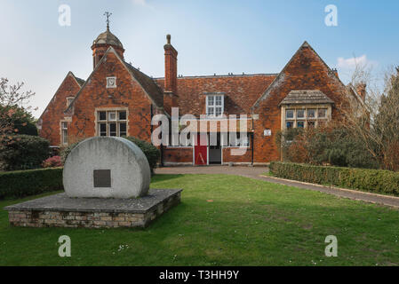 View of the old village school building in Long Melford, Suffolk, England, UK. - Stock Image