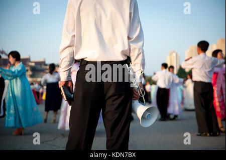 Le grand bal annuel réunis les étudiants de Pyongyang le 9 octobre 2012. The great annual ball Pyongyang - Stock Image