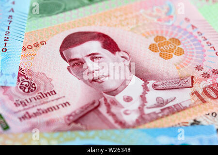 Banknotes of the Tailand (new design issued in 2018) - Stock Image