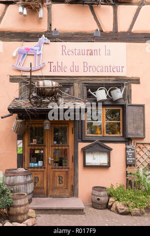 La Table du Brocanteur, French Restaurant, Colmar, France, Europe - Stock Image