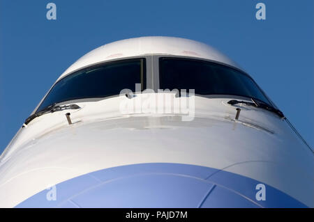 nose and windshield at the 2005 Paris AirShow, Salon-du-Bourget - Stock Image