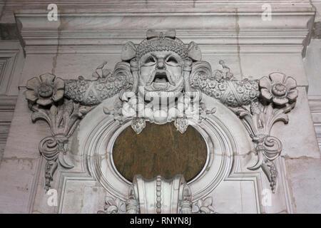 Sculpture in the Palais Garnier, Paris, France - Stock Image