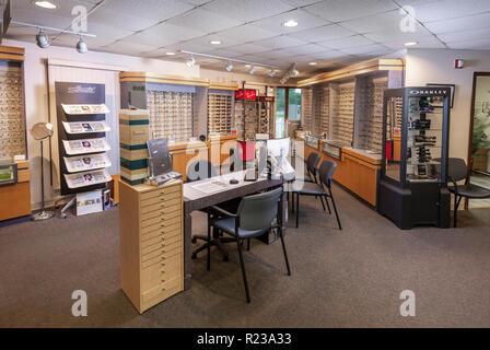 Optometrist Office, Eyeglass Sales Area - Stock Image