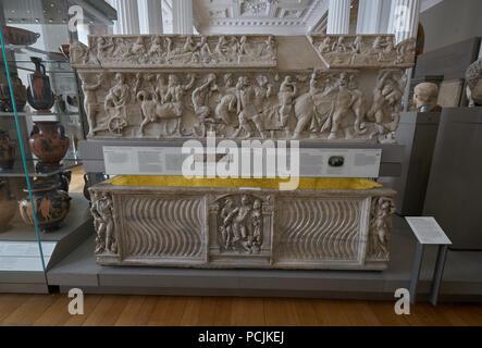 pahsley sarcophagus  fitswilliam museum cambridge - Stock Image