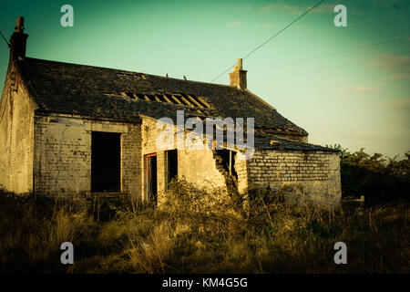 ruined and abandoned house - Stock Image