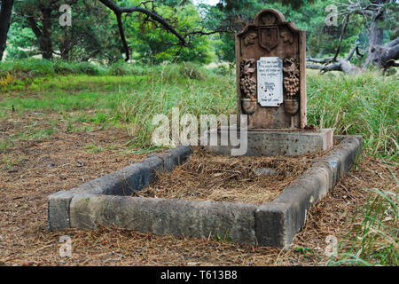 Sydney, Australia - 14 April 2019: Graveyards of Characters from popular TV show Game of Thones. Public  event in Sydney centennial park with free adm - Stock Image