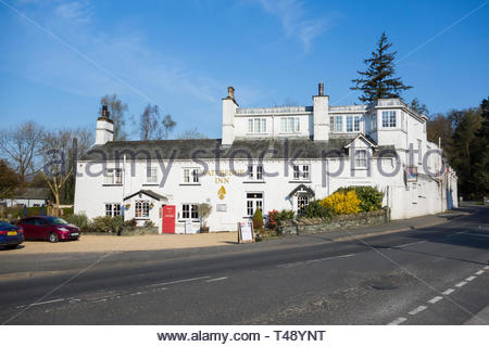 The Wateredge Inn by Lake Windermere at Ambleside, Cumbria, England, UK - Stock Image