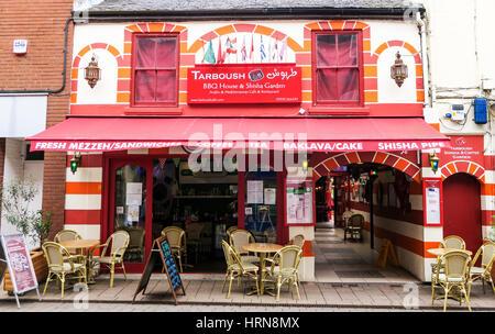 The Tarboush Turkish restaurant, cafe and shisha bar in Loughborough, UK - Stock Image