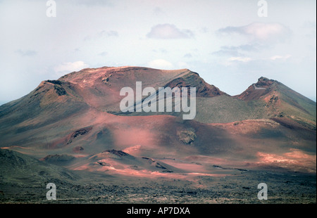 Fire Mountain, Lanzarote, Canary Islands - Stock Image