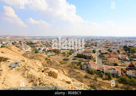 Overlooking Oroklini village, Larnaca, Cyprus October 2018 - Stock Image