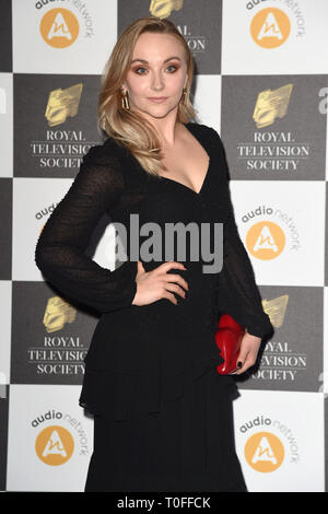 LONDON, UK. March 19, 2019: Alice Feetham arriving for the Royal Television Society Awards 2019 at the Grosvenor House Hotel, London. Picture: Steve Vas/Featureflash Credit: Paul Smith/Alamy Live News - Stock Image