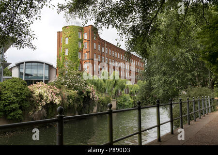 John Jarrold Printing Museum, on the banks of the river Wensum, Norwich, UK - Stock Image