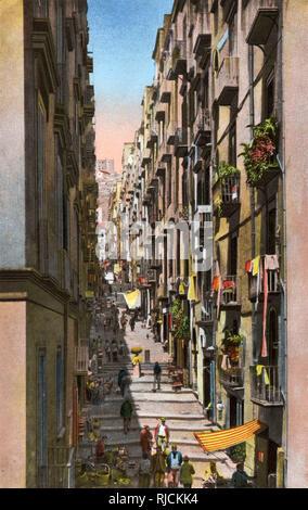 Gradoni di Chiaia, a narrow street of steps in Naples, Italy. - Stock Image