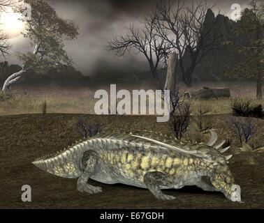 Dinosaurier Desmatosuchus / dinosaur Desmatosuchus - Stock Image