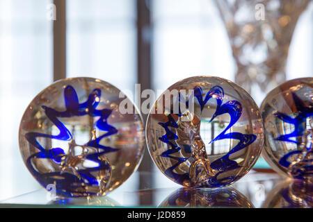 Czech Republic, Nizbor. Display of glass paperweights. Credit as: Wendy Kaveney / Jaynes Gallery / DanitaDelimont.com - Stock Image