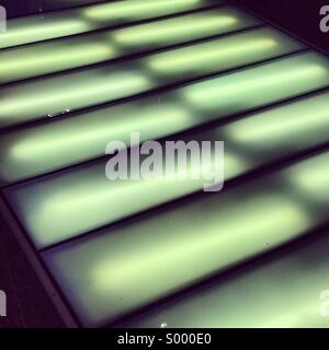 Abstract lights on floor - Stock Image