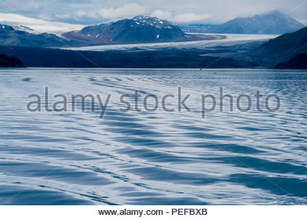 A view of the Grand Pacific Glacier from Tarr Inlet, Glacier Bay National Park. - Stock Image
