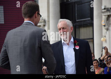 Jeremy Corbyn Labour Leader Campaign Speech in Watford June 7th - Stock Image