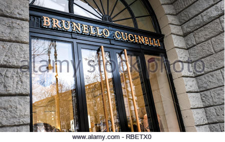 Brunello Cucinelli store - Stock Image