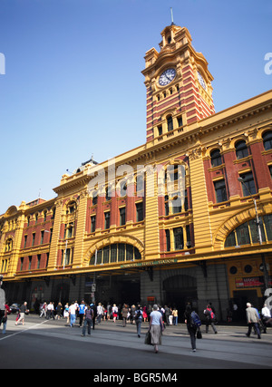 Flinders Street Station Melbourne Australia - Stock Image