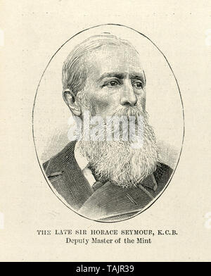 Sir Horace Alfred Damer Seymour (1843-1902) Deputy Master of Royal Mint - Stock Image