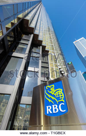 RBC Royal Bank tower in the Bay Street financial district of Toronto Ontario Canada. - Stock Image