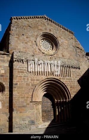 Royal Monastery of Santa Maria de Veruela, Cistercian abbey near Vera de Moncayo, in Zaragoza, Aragon, Spain. Gustavo Adolfo Becquer route. - Stock Image