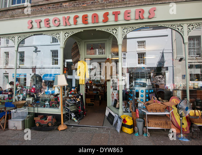 Steckfensters on Chapel street in Penzance Cornwall Britain - Stock Image
