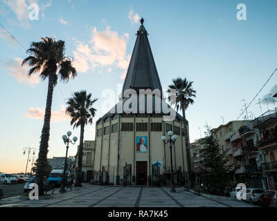 Church of Saint John (San Giovanni) in the town of Giardini Naxos, Province of Messina, Sicily, Italy - Stock Image