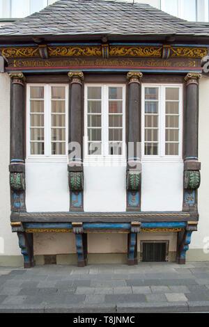 Deutschland, Nordrhein-Westfalen, Werl, Kämperstrasse, Haus Mönnighoff, Geburtshaus des Malers Hans Sponnier - Stock Image
