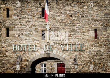 City Hall (Hotel de Ville), Saint Malo, Brittany, France. - Stock Image