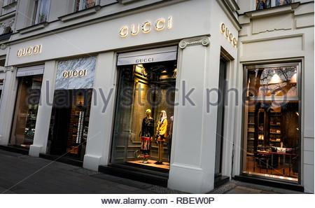 Gucci store - Stock Image
