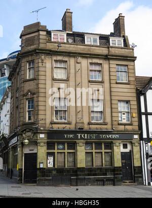 The closed down Turf Tavern pub in Nottingham, UK. - Stock Image