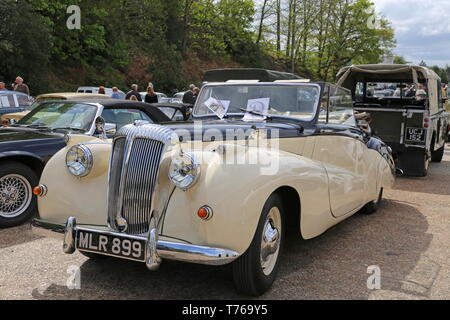 Daimler 2.5 Special Sports Convertible (1951), British Marques Day, 28 April 2019, Brooklands Museum, Weybridge, Surrey, England, Great Britain, UK - Stock Image