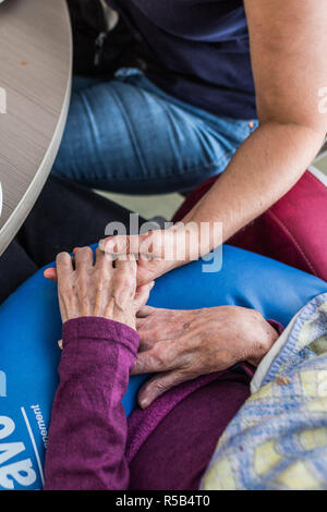 EHPAD specialized in the care of the elderly suffering from Alzheimer's disease, Center for psychogeriatric care, France. - Stock Image