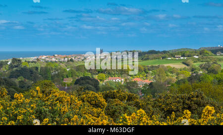 View of Cromer from Incleborough Hill. - Stock Image