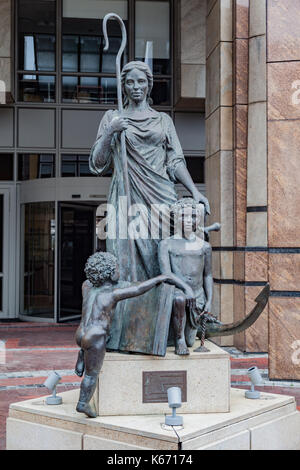 Peasant Statue Waterfront Cape Town South Africa - Stock Image