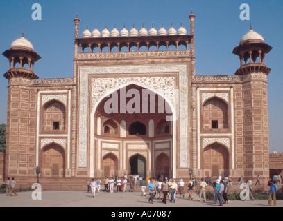 Great Gateway, Taj Mahal, Agra, Rajasthan, India - Stock Image