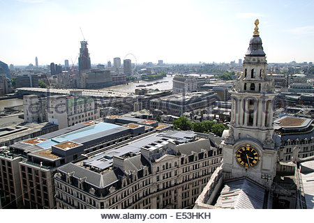 London skyline view from St Paul's Cathedral 2014 - Stock Image