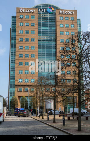 The BT, British Telecom, Riverside Tower in Belfast, Northern Ireland. - Stock Image