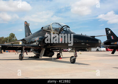 BAE Systems Hawk T2 military jet trainer of the Royal Air Force - Stock Image