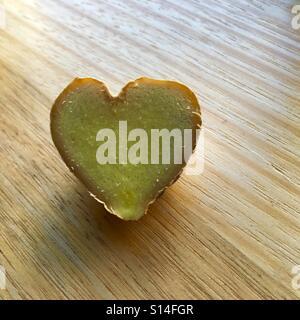 Heart shaped ginger - Stock Image