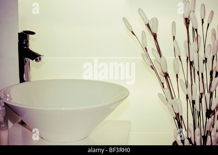 Washbasin in the bathroom - Stock Image